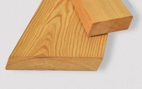 Планкен скошенный (ромбус) из лиственницы сибирской